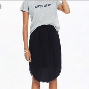 Madewell silk skirt xs